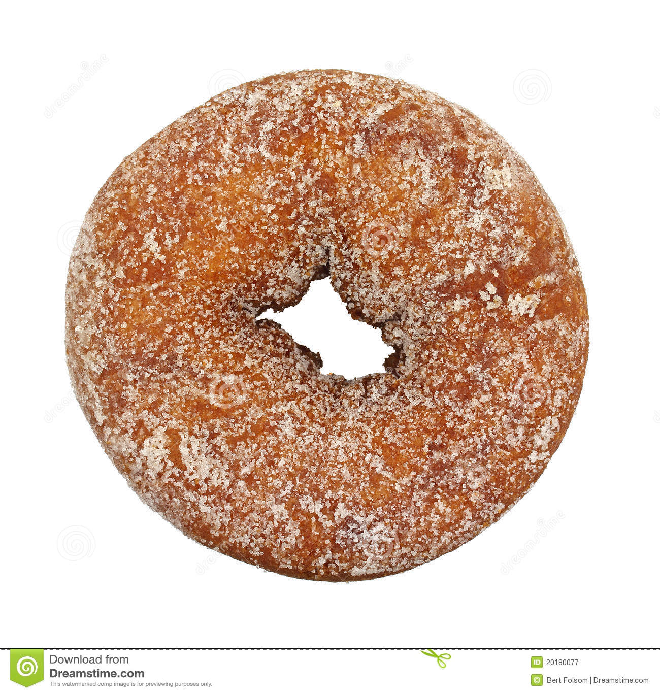 Plain Sugar Cake Doughnut Royalty Free Stock Photography - Image ...