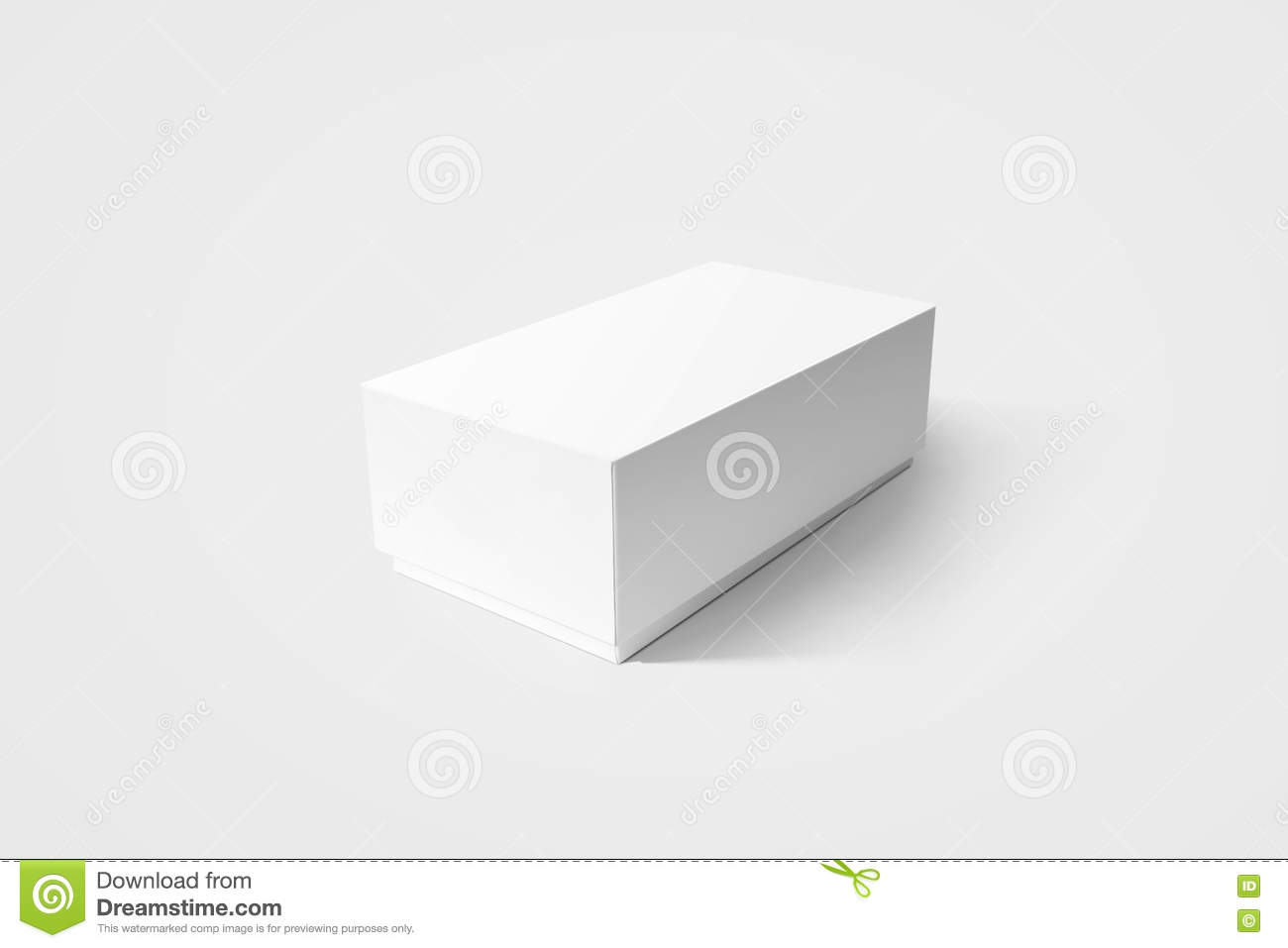 Plain White Carton Product Box Mockup, Side View, Clipping ...
