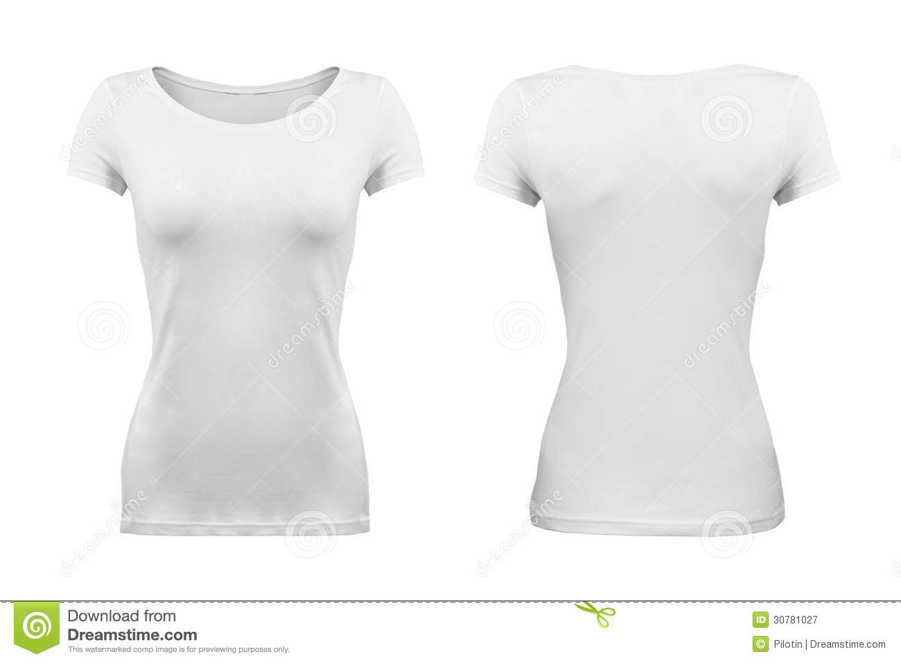 ... Shirt with hollow effect on white background; plain; front and back