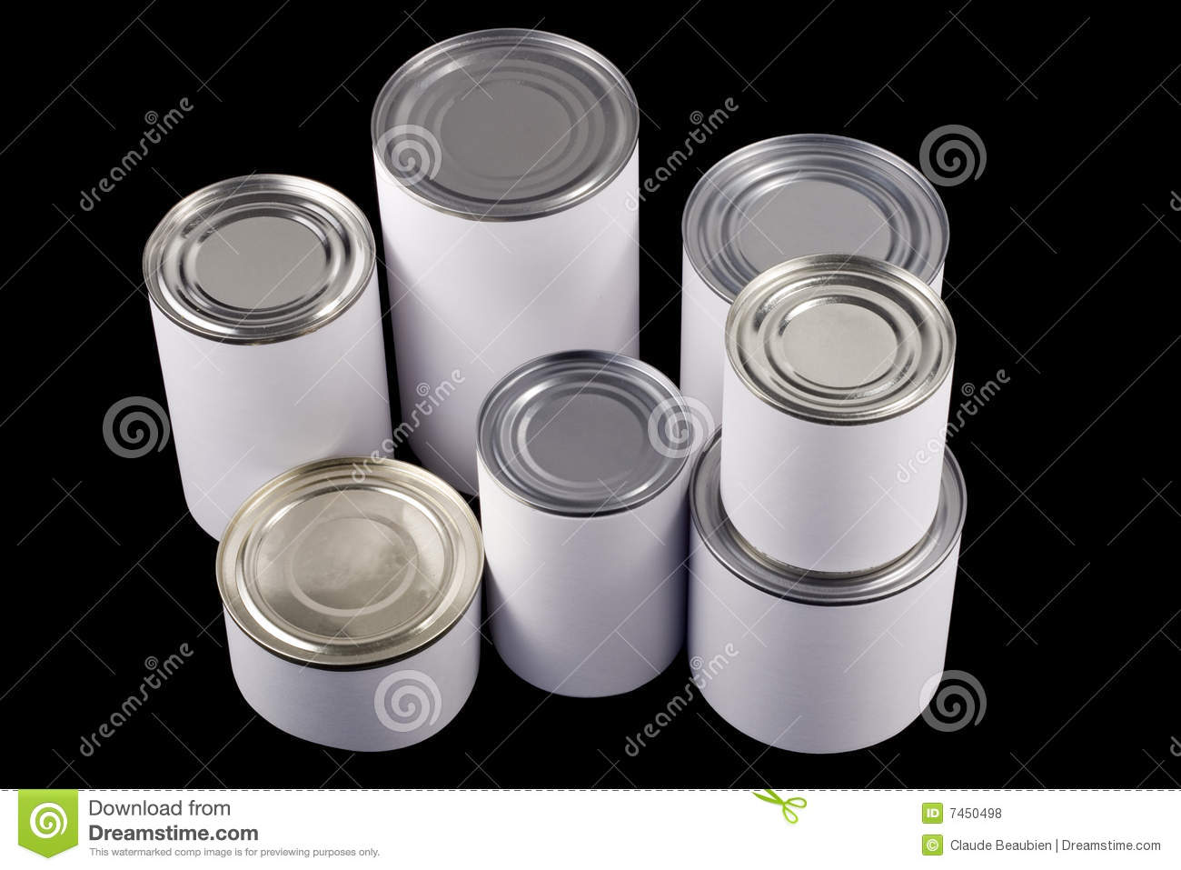 plain white tin cans stock photo  image of label  food