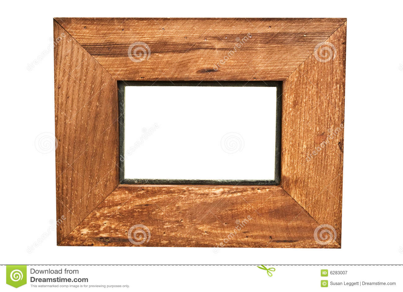 Plain Wooden Frame/Rustic stock image. Image of brown ... Plain Wooden Frame