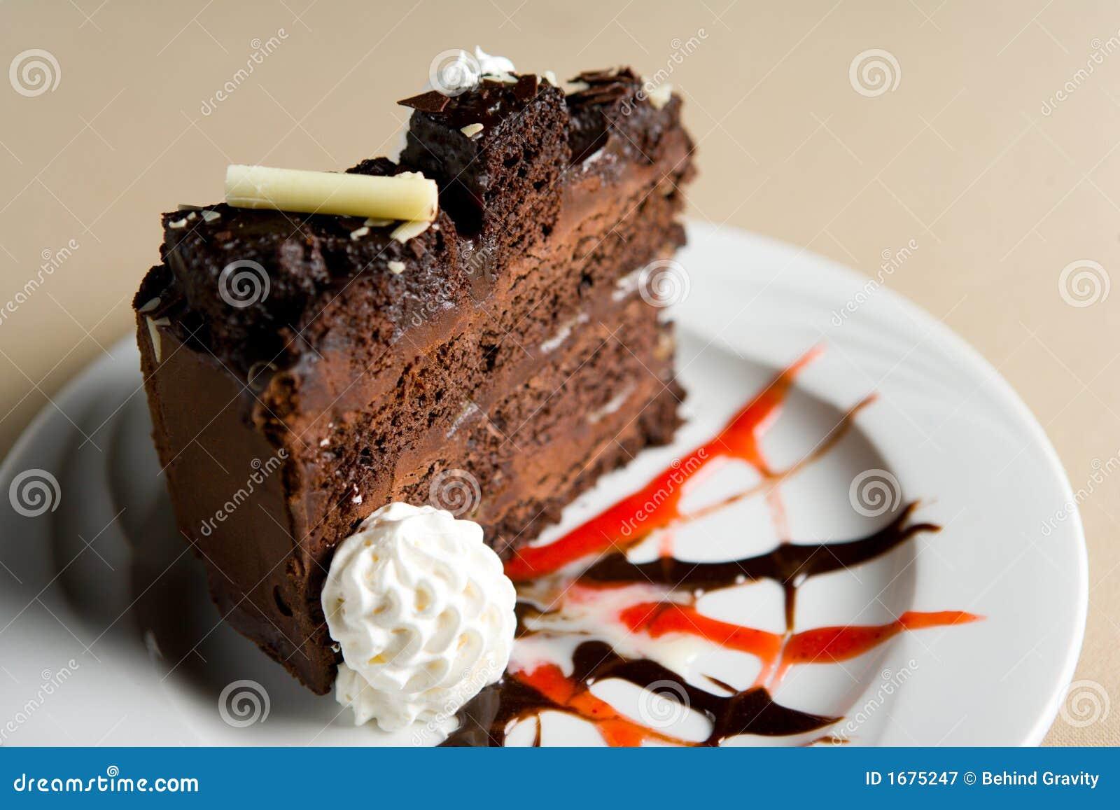 Plak van chocoladecake
