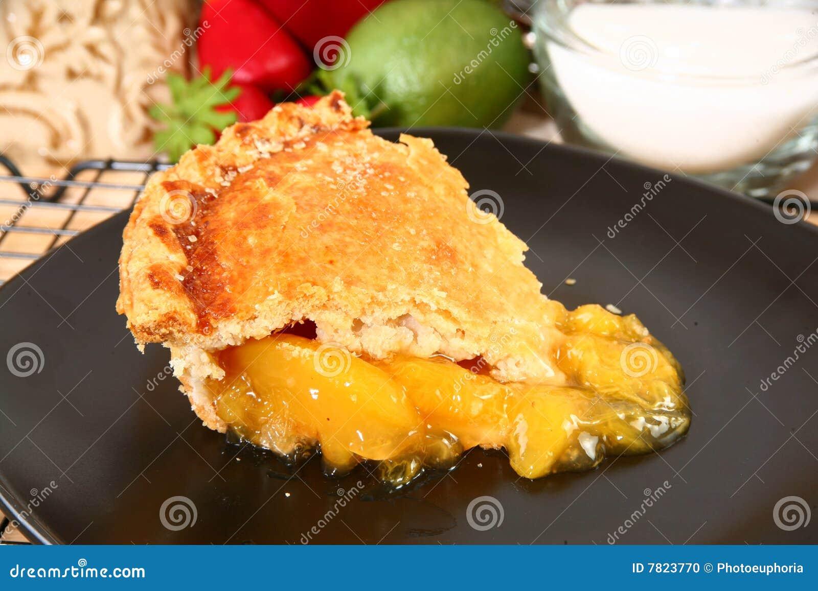 Plak van de Pastei van de Perzik