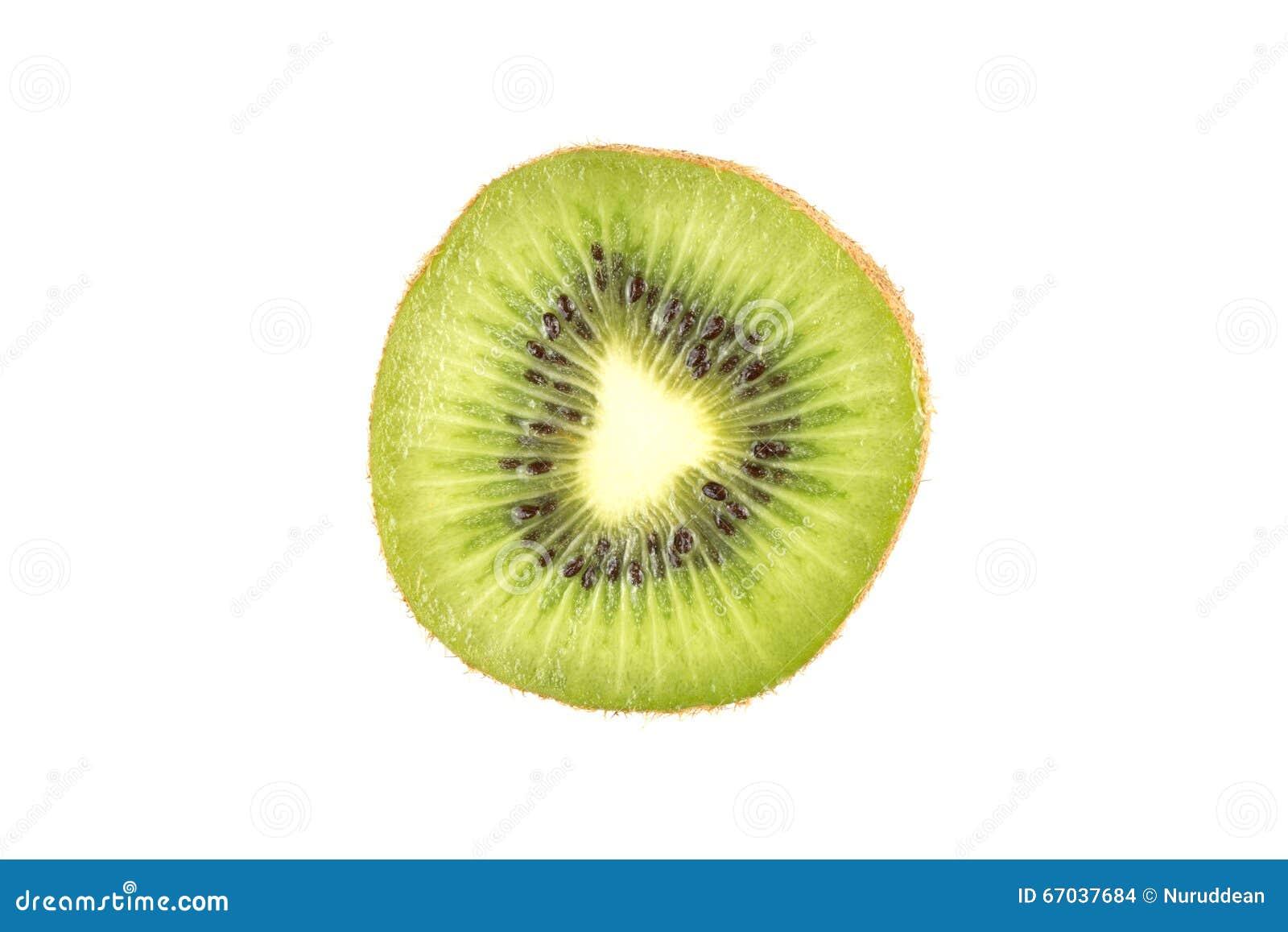 Plak van vers kiwifruit