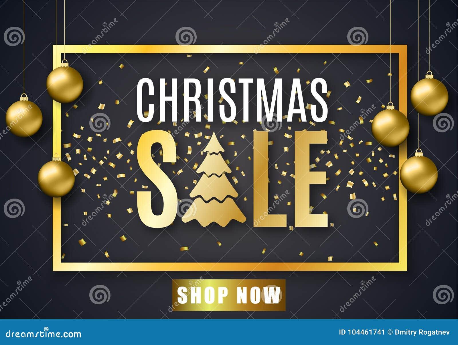 Plakat für Weihnachtsverkauf