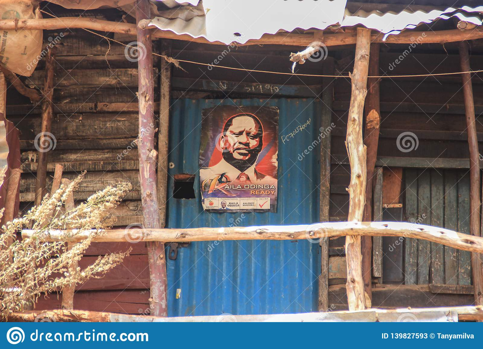 Plakat lokalny delegat jest jeden biedni miejsca w Afryka