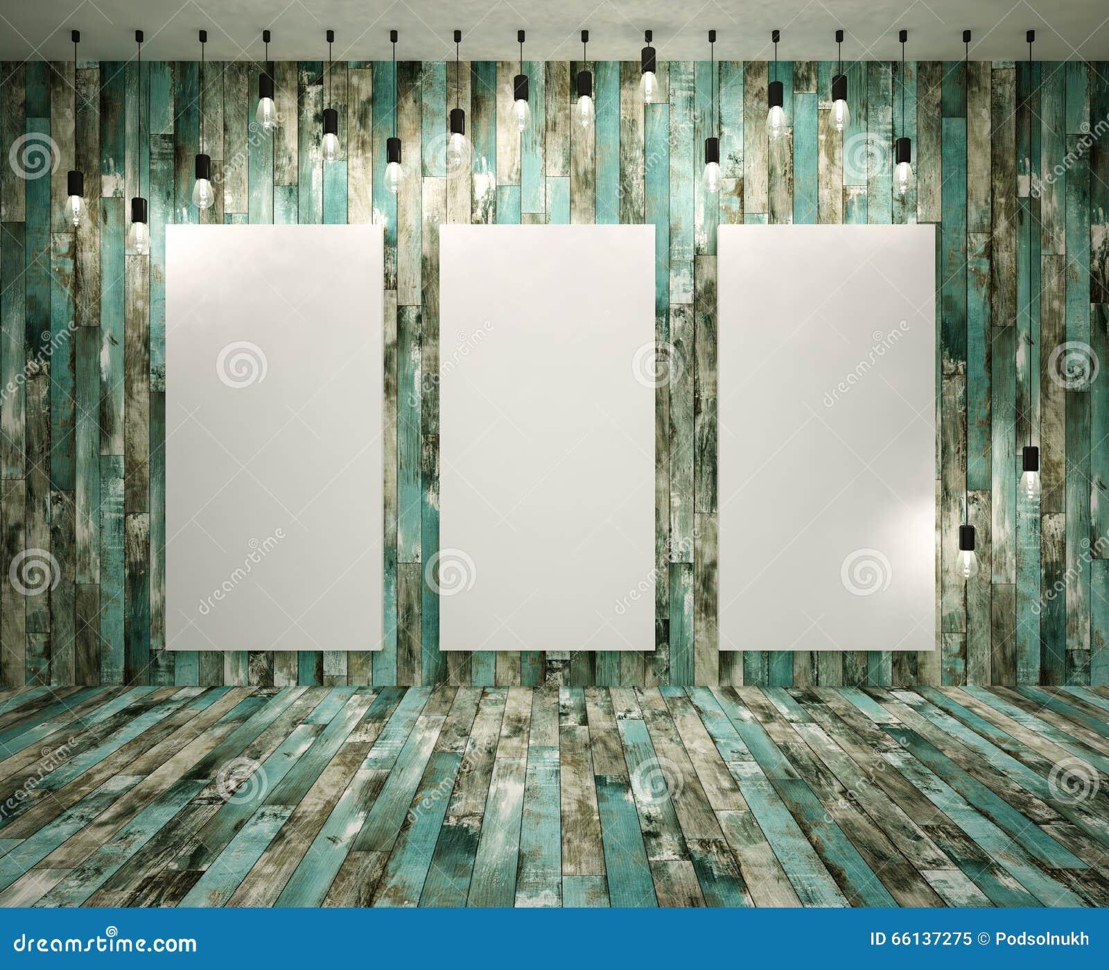Plakat W Pokoju Na Loft Stylu Ilustracji Ilustracja