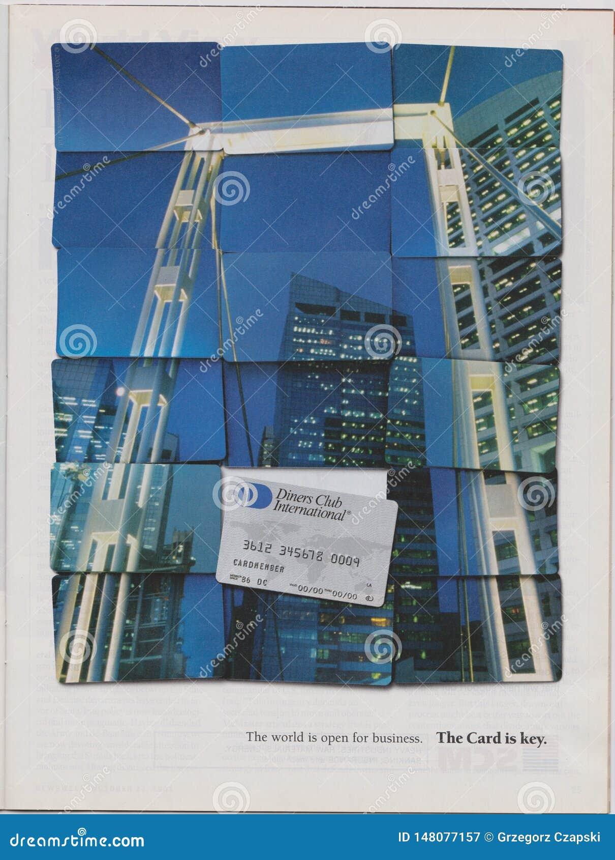 Plakatwerbung Tischgäste schlagen internationales in der Zeitschrift ab Oktober 2005 mit einer Keule, Welt ist offen für Geschäft