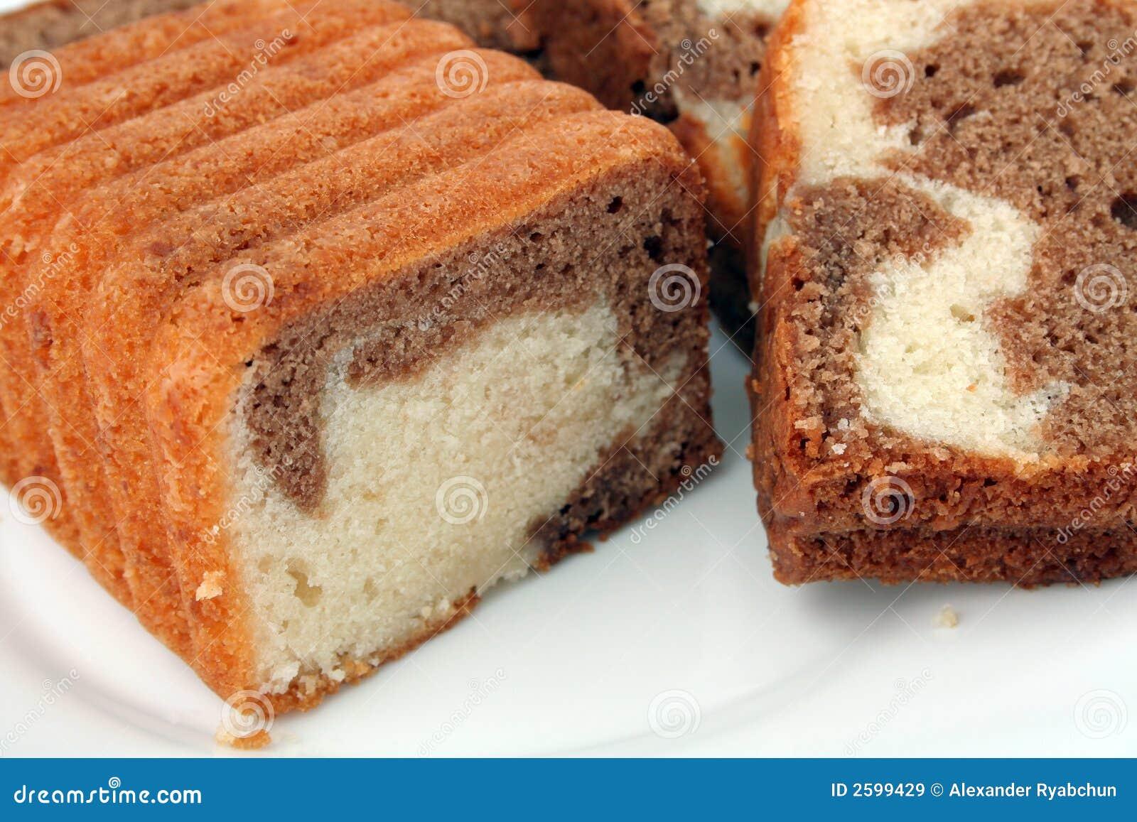 Plakken van een chocoladecake