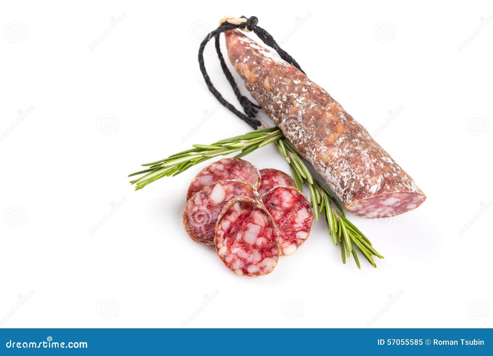 Plakken van salami