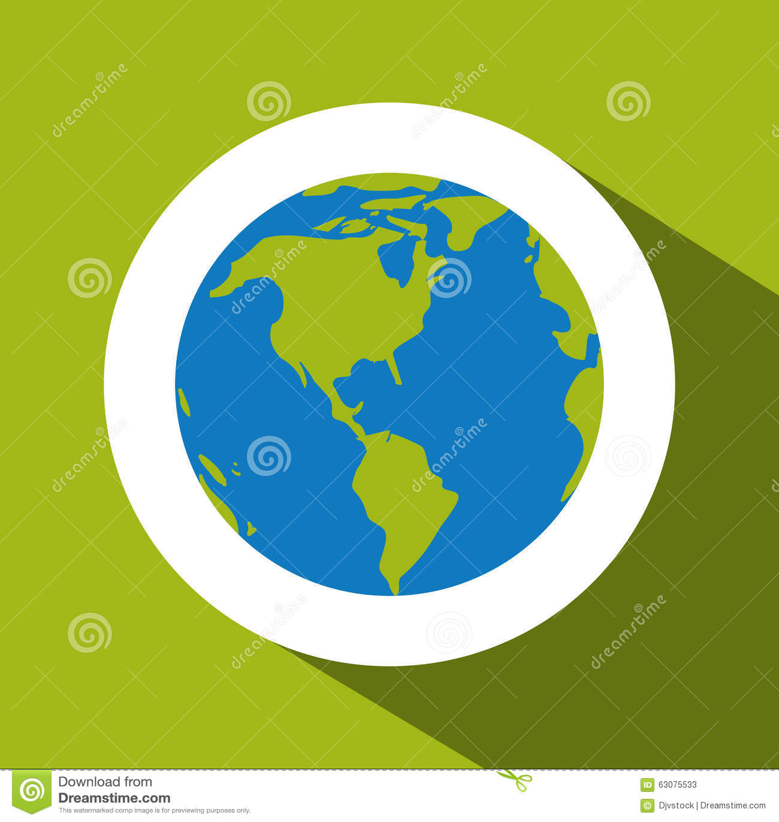 Download Planète Au-dessus De Conception De Cercle Illustration de Vecteur - Illustration du horizontal, exploration: 63075533
