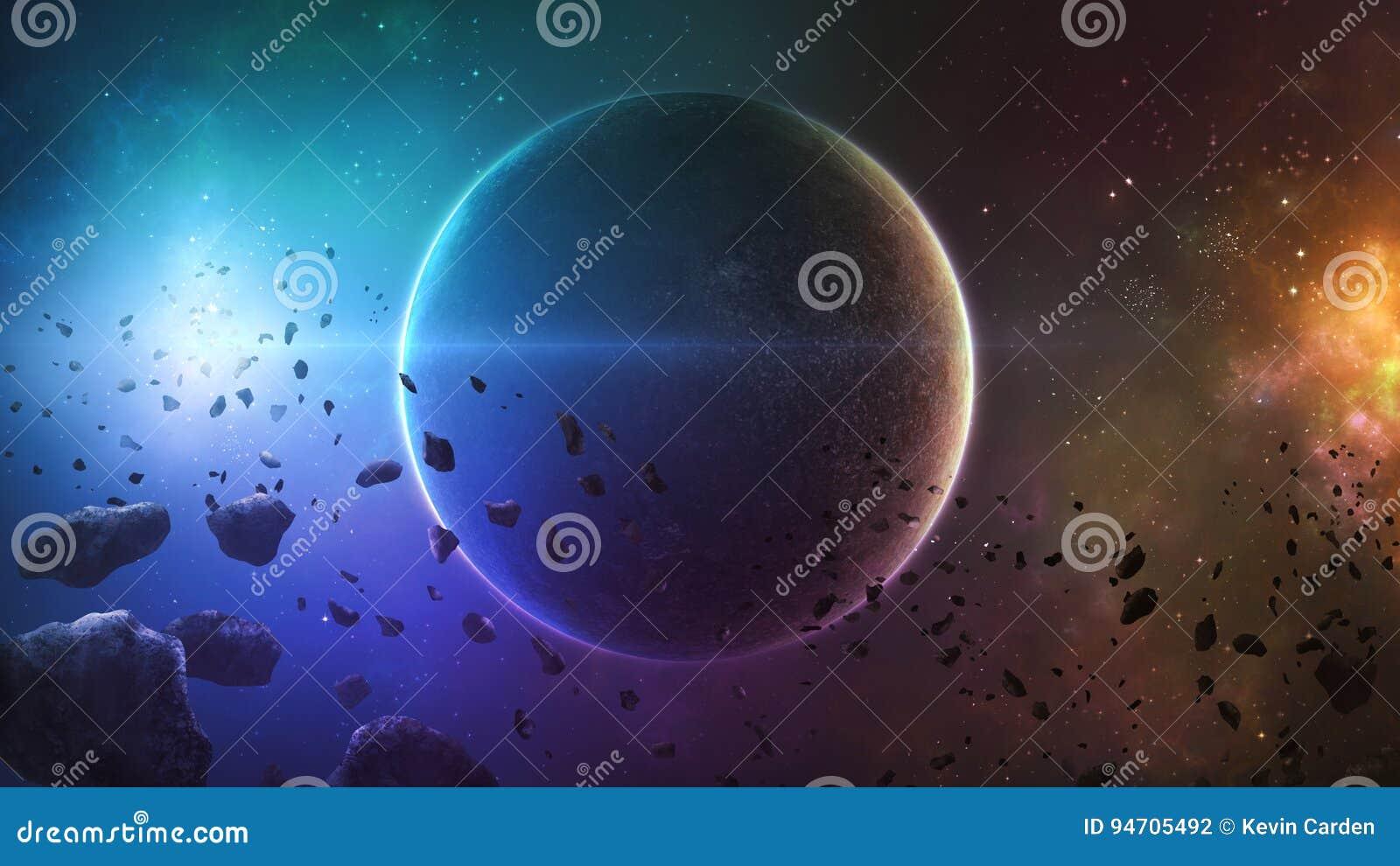 Planète d espace lointain