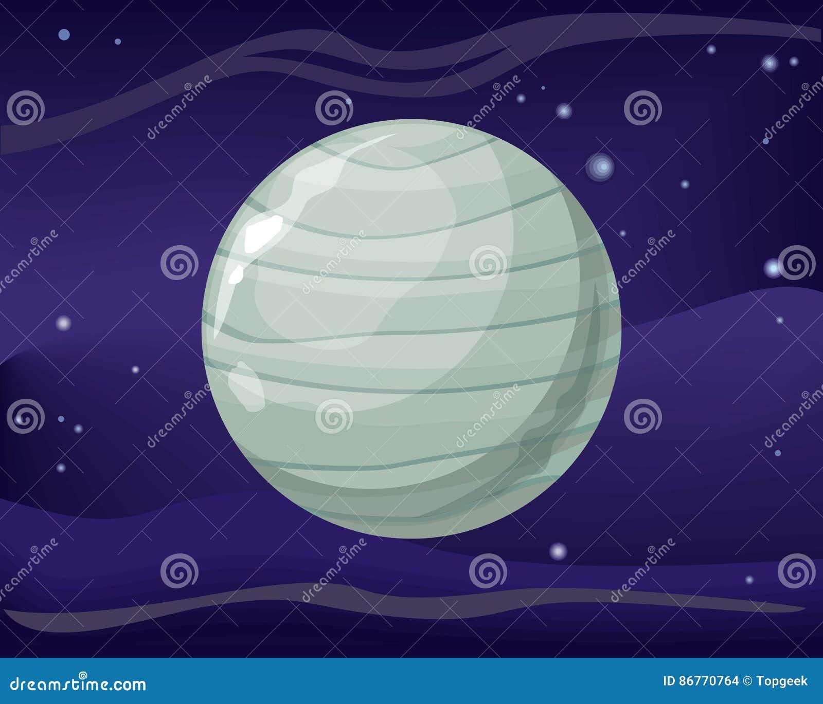Planete D Uranus Systeme De Sun Univers Vecteur Illustration De