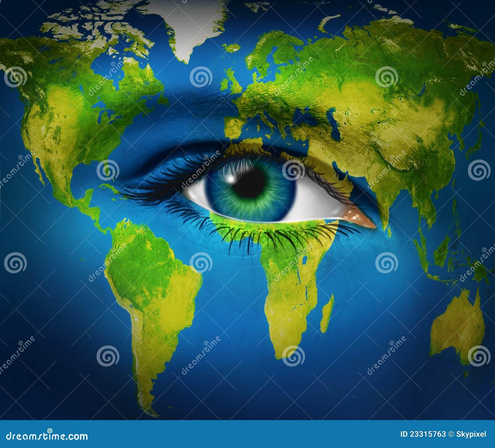 Planète de la terre d oeil humain