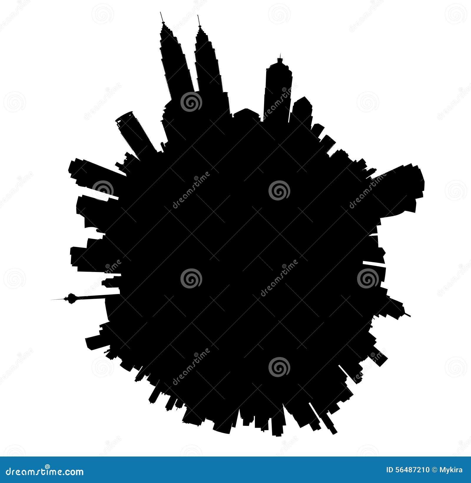 Planète de vecteur de Kuala Lumpur