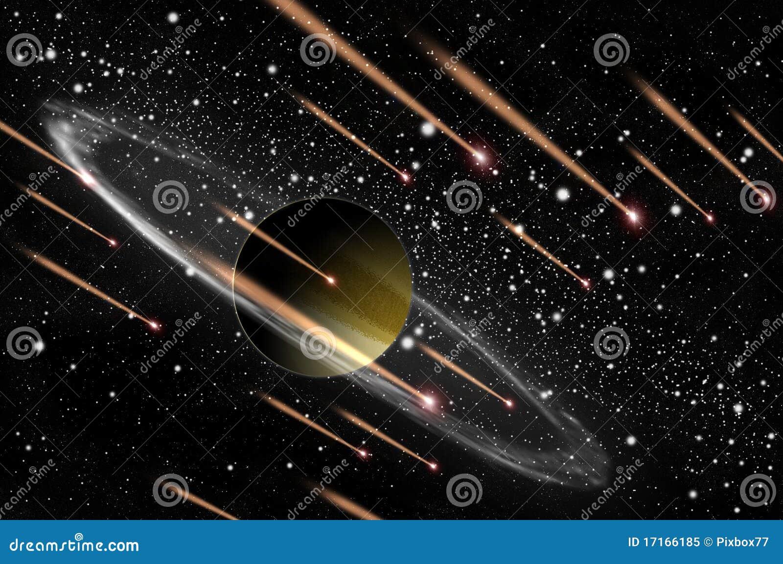 Planète et comète de gaz