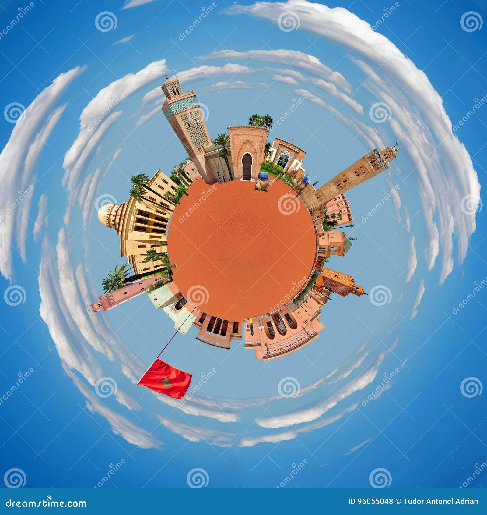 Planète minuscule de Marrakech