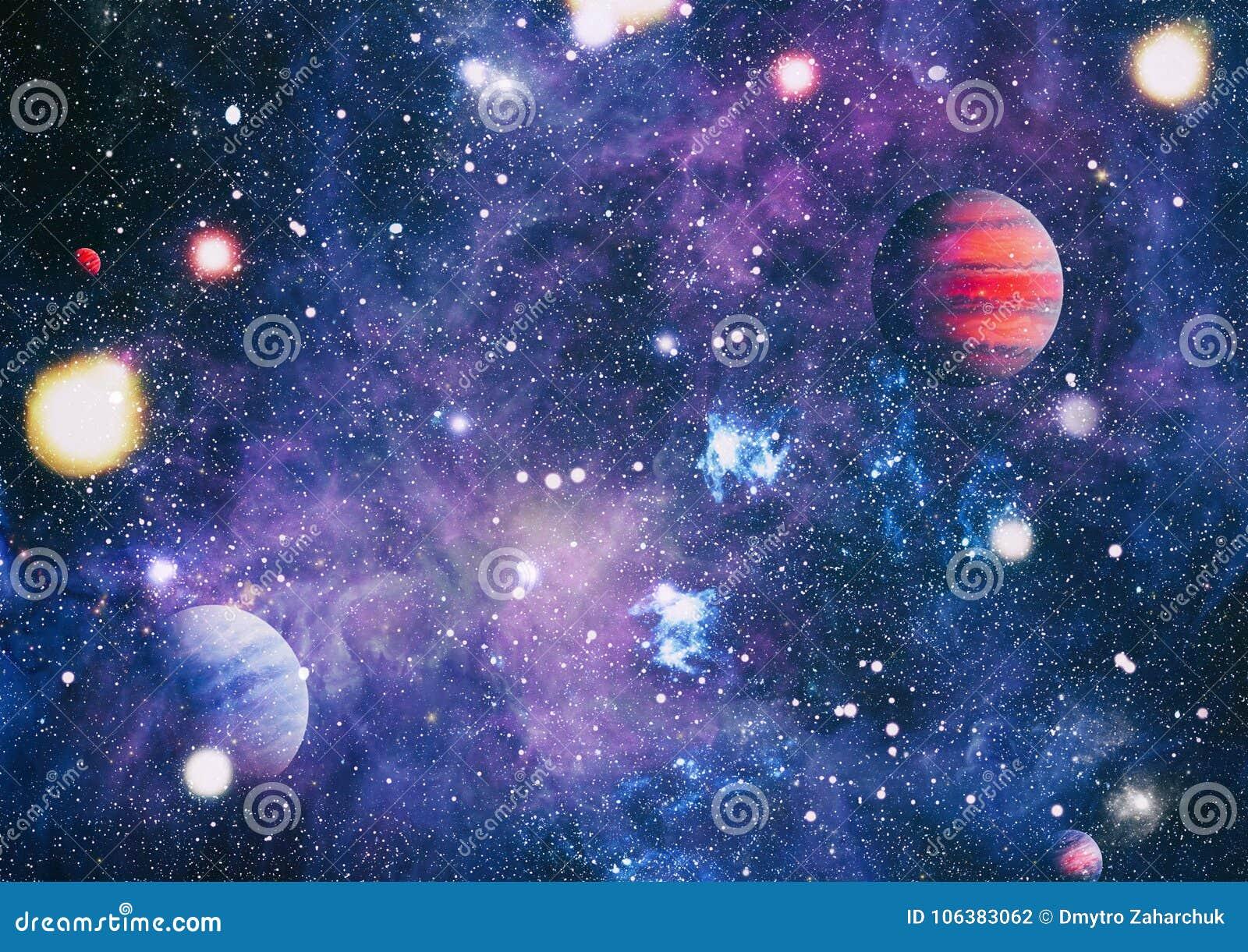 Planètes, étoiles et galaxies dans l espace extra-atmosphérique montrant la beauté de l exploration d espace Éléments meublés par