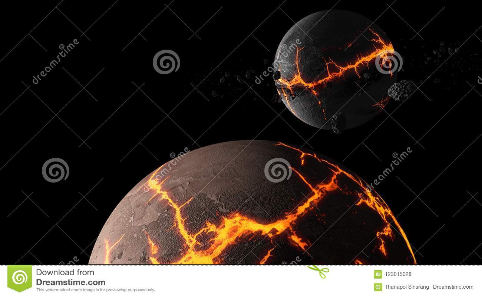 Planètes et galaxie, papier peint de la science-fiction Beauté d espace lointain