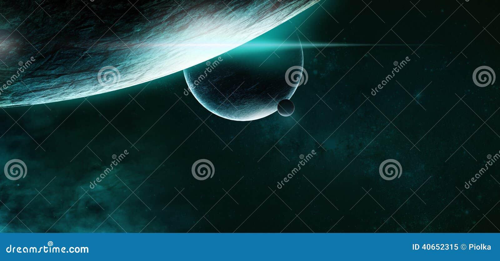 Planètes sur un fond étoilé