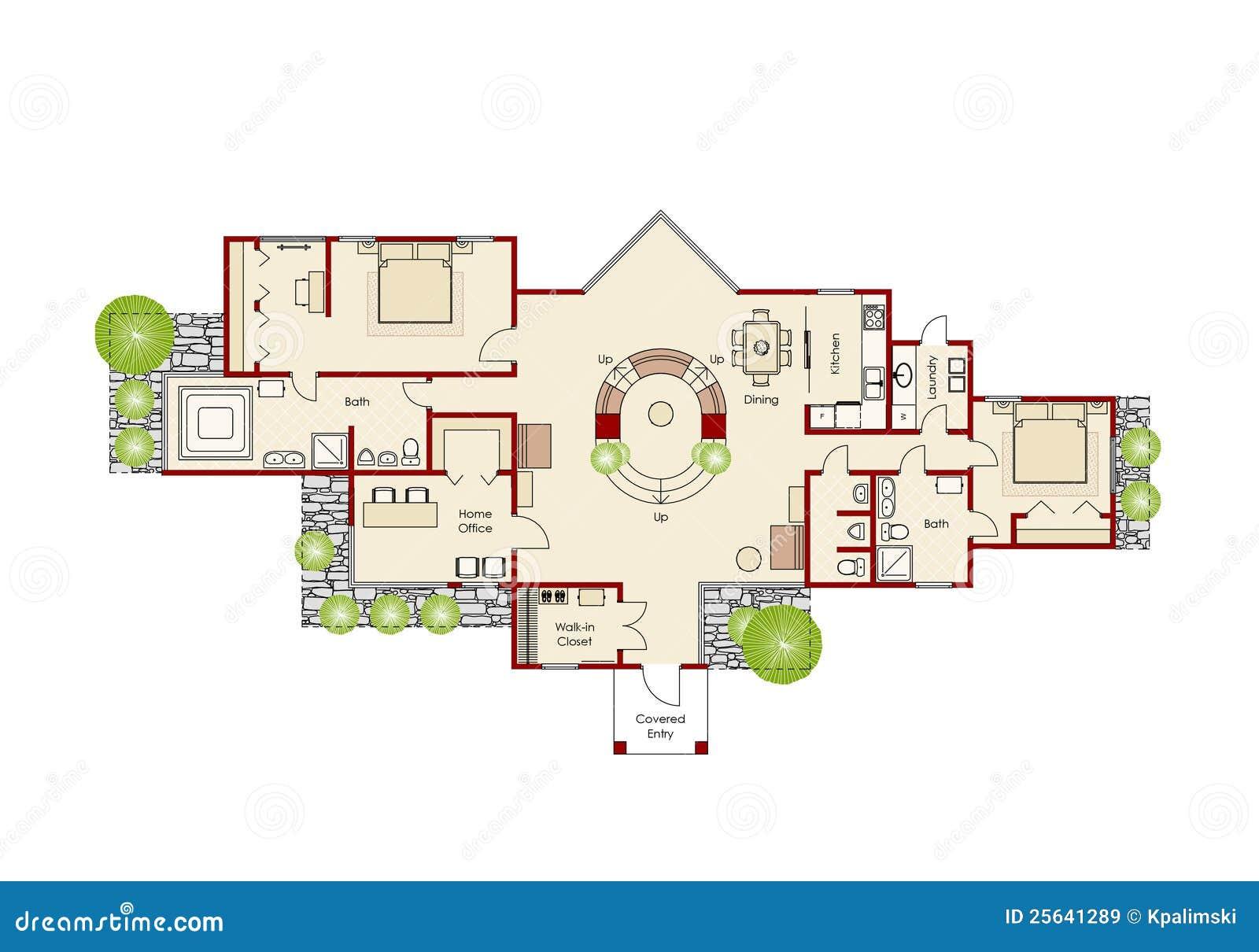 plan la maison id al illustration stock image du projet 25641289. Black Bedroom Furniture Sets. Home Design Ideas