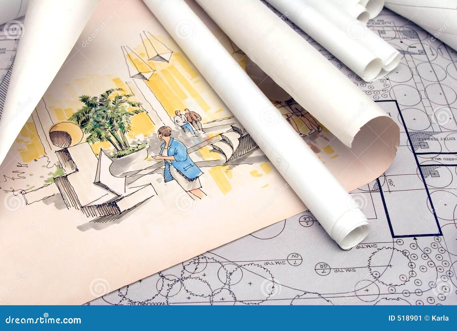 Plan architectural d horizontal