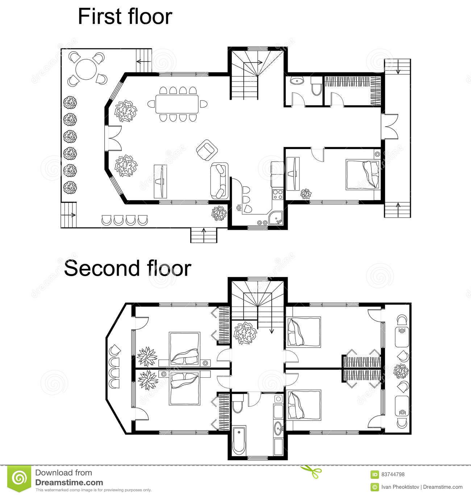 Plan architectural d une maison maison moderne - Plan architecturale de maison ...