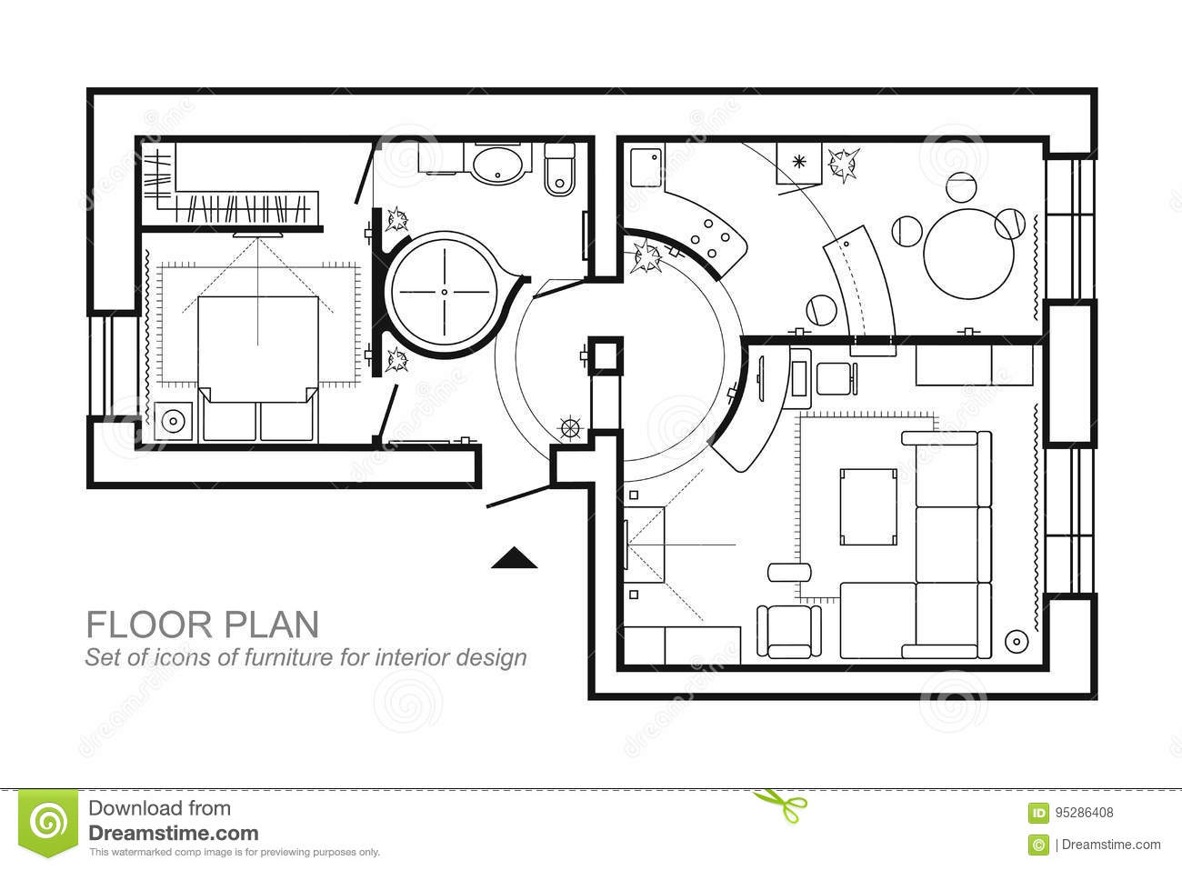 Genial Finest Comment Dessiner Un Plan D Appartement Affordable Dessin Plan  Comment Dessiner With Plan Studio 20m2