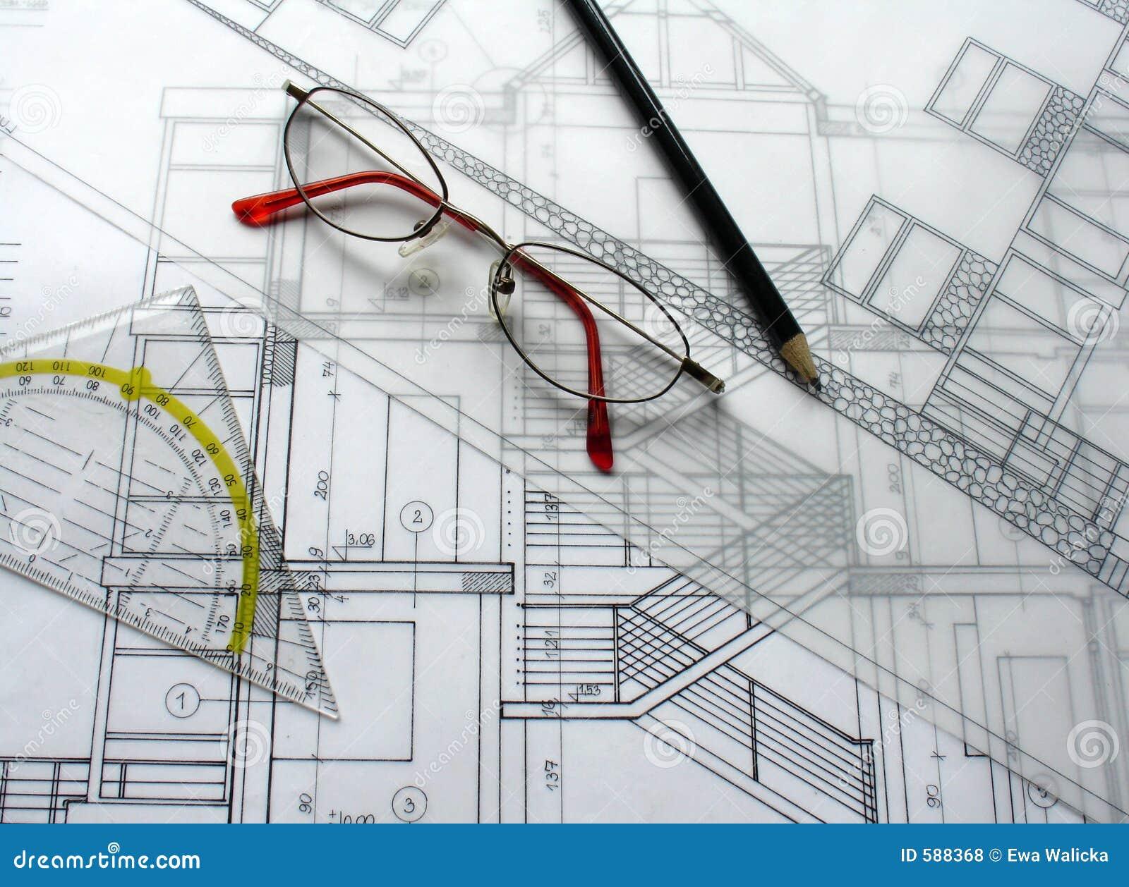 Plan Architektury Zdjęcie Stock Obraz Złożonej Z Diagram 588368
