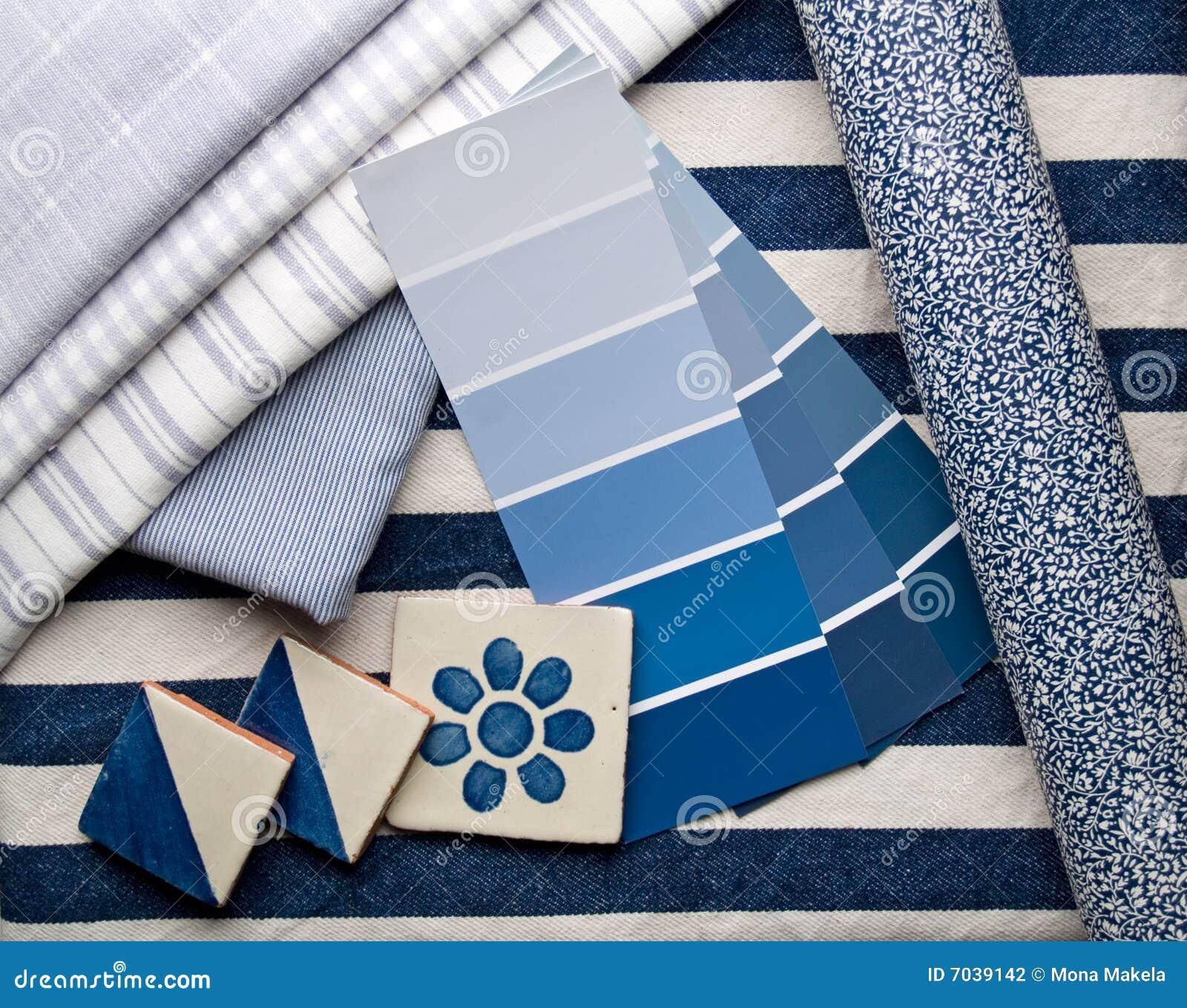 Plan azul de la decoración interior