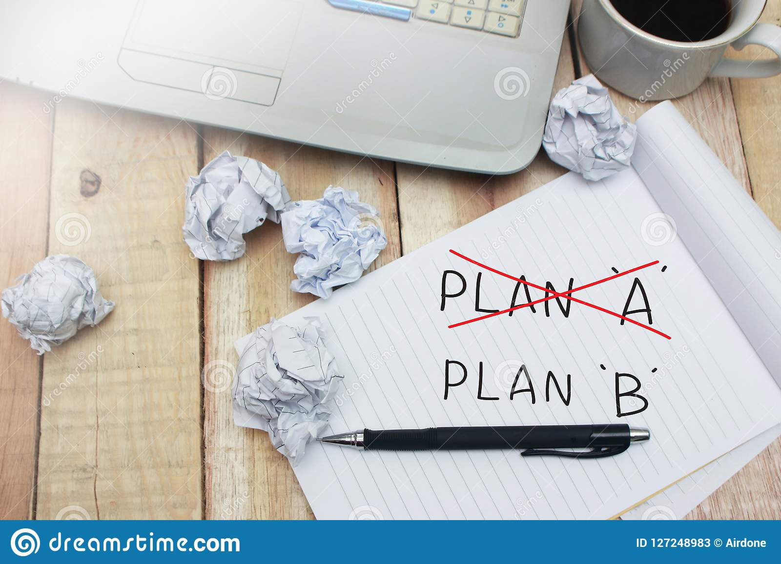 Plan A And B Motivational Words Quotes Concept Stock Image Image