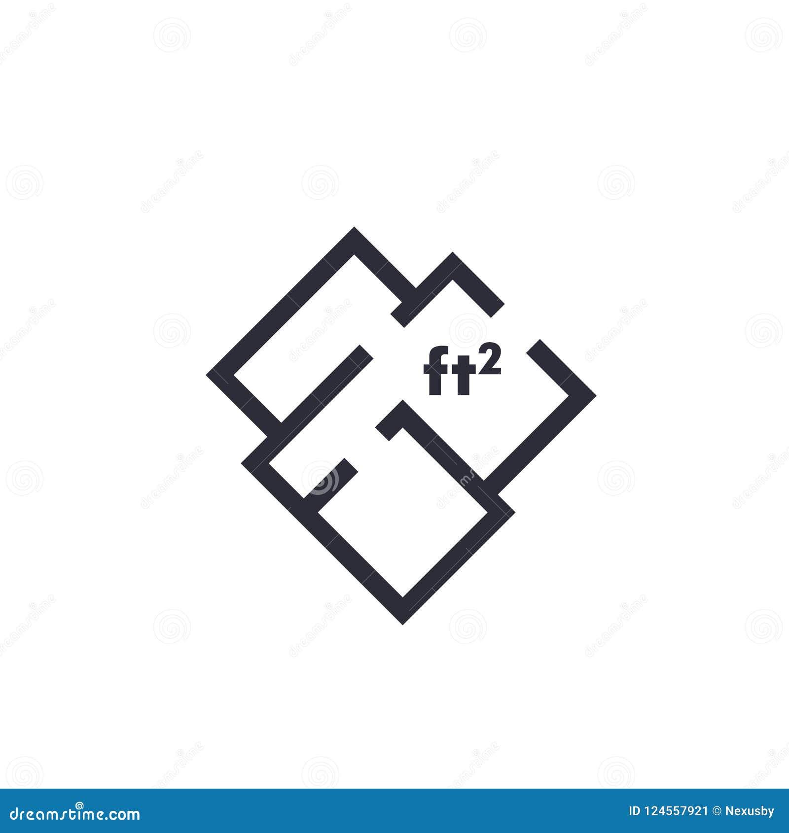 Plan casero, apartamento, icono del vector de la disposición del sitio