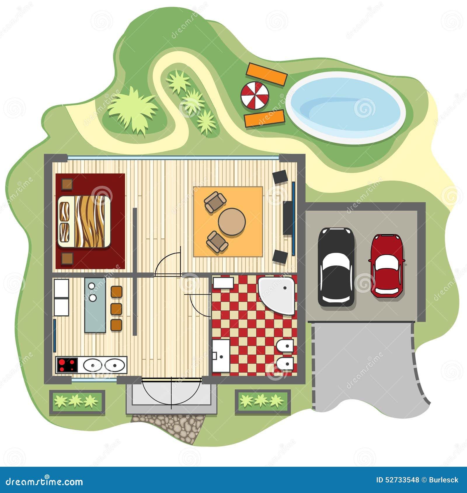 Plan d étage de maison