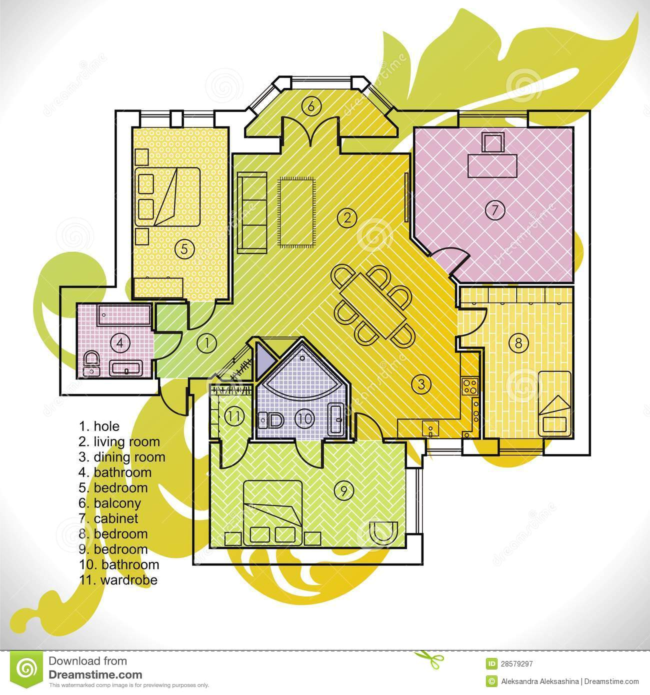 Plan d 39 appartement photographie stock libre de droits for Plan de conception de plan libre
