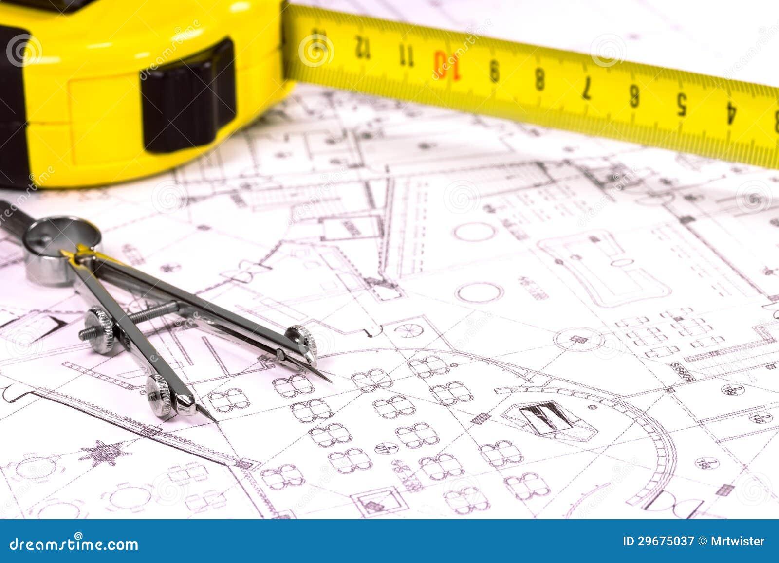 Plan D 39 Architecte Photographie Stock Libre De Droits