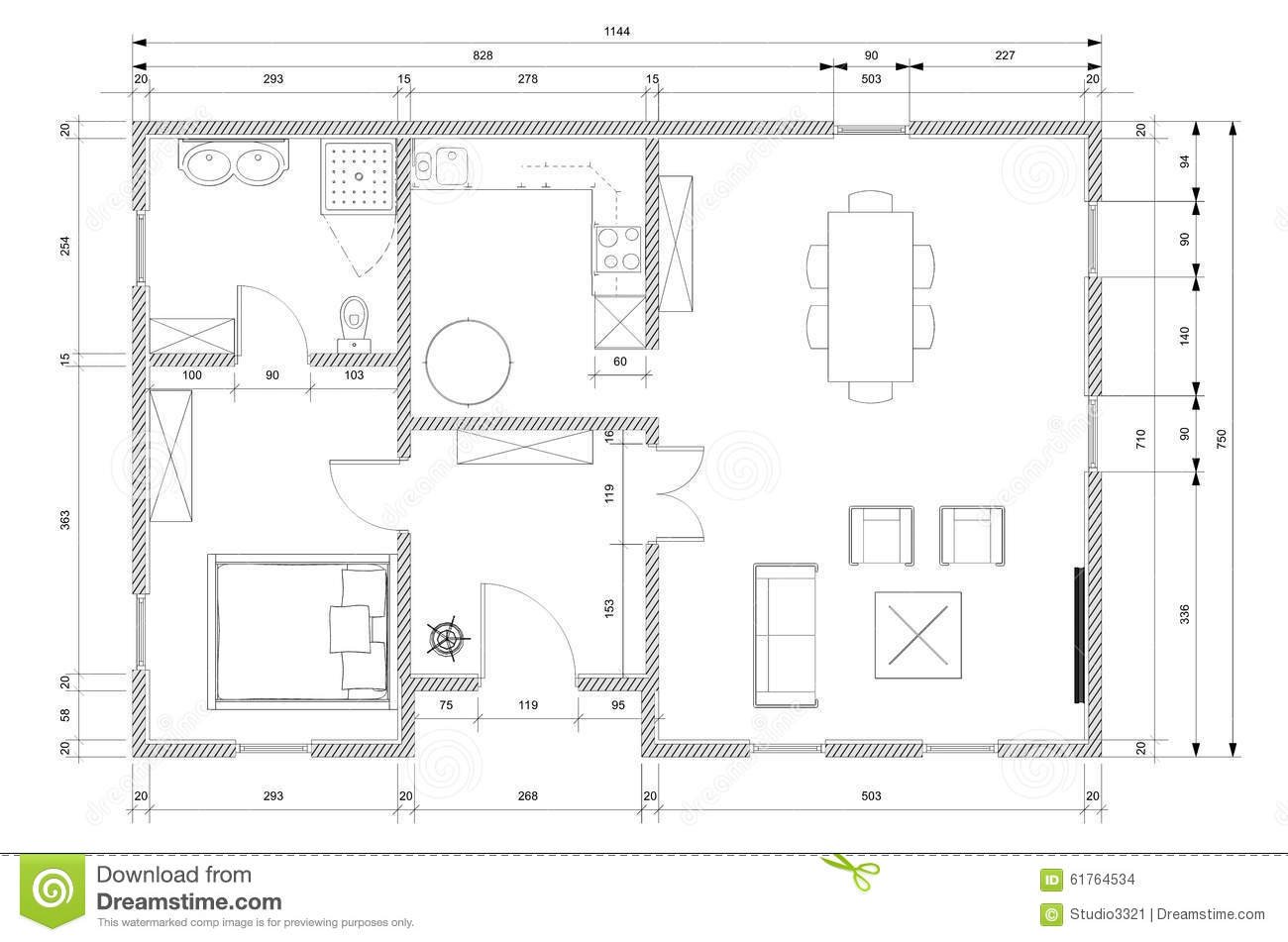 Plan d 39 architecte pour la construction de maison illustration stock illustration du - Plan de maison d architecte ...