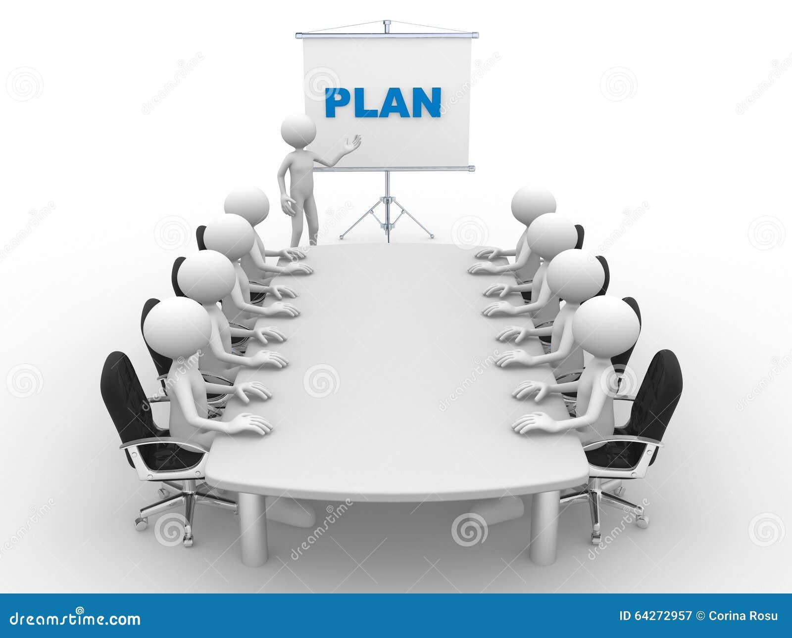 Plan Stock Illustration Image Of Cartoon Person