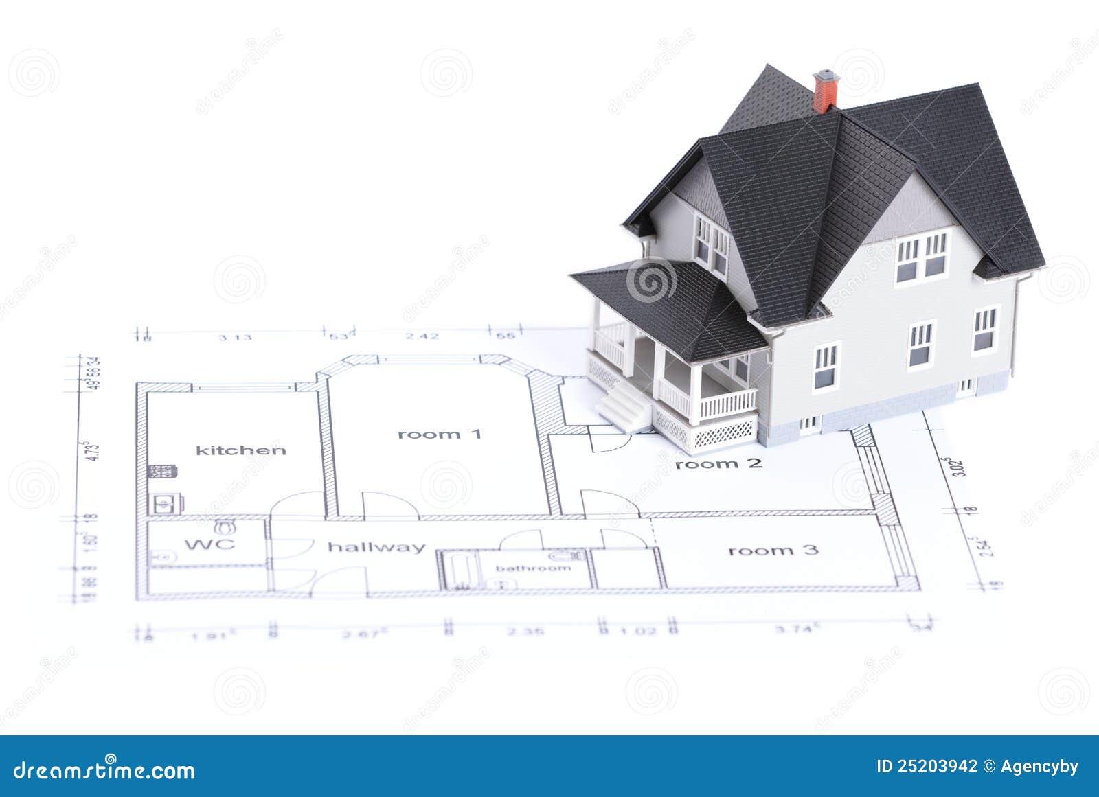Plan de construction avec le mod le de maison photographie for Plan de construction