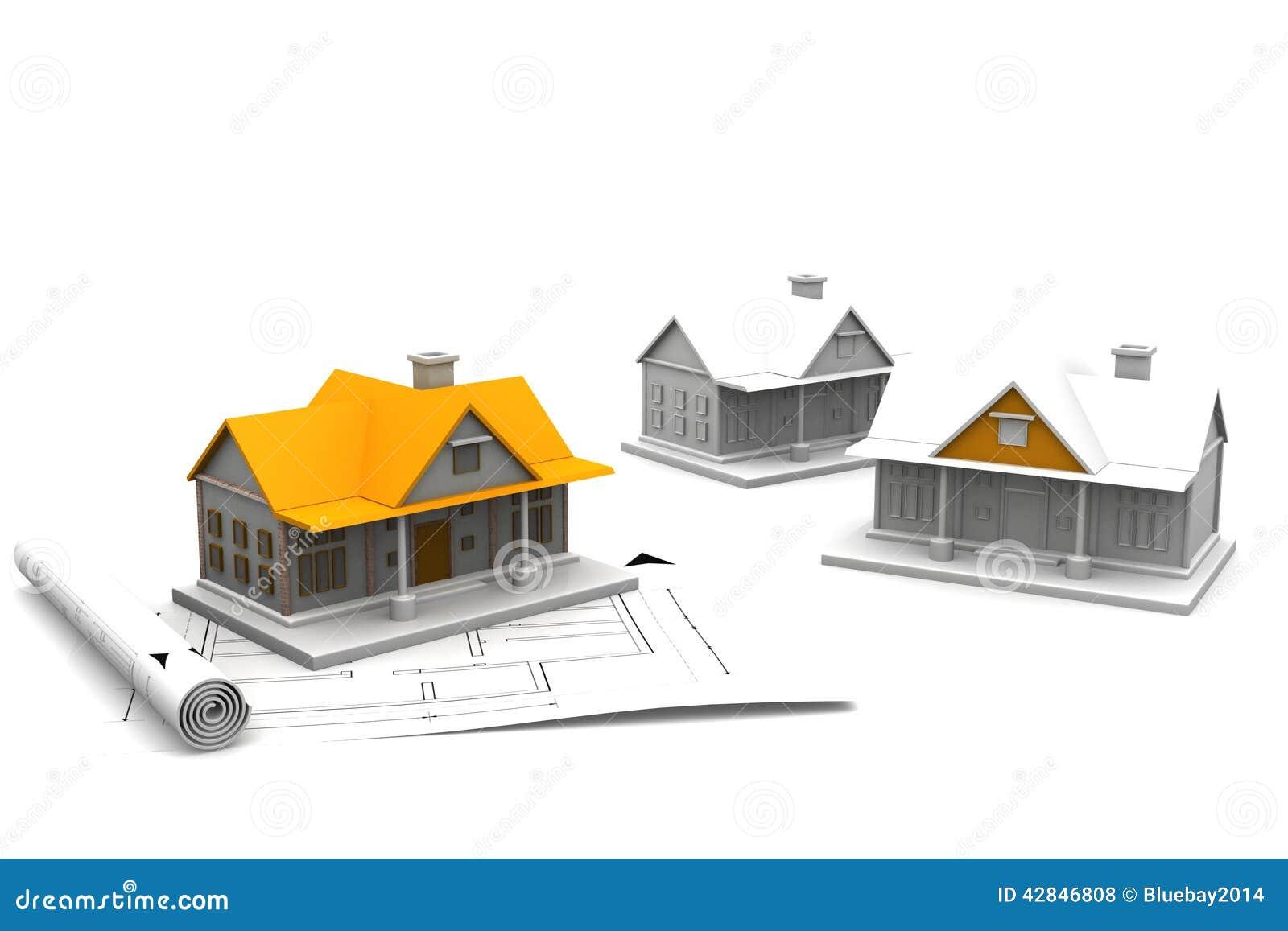 Plan de croquis de mise au point de maison de l for Croquis architecturaux de maisons