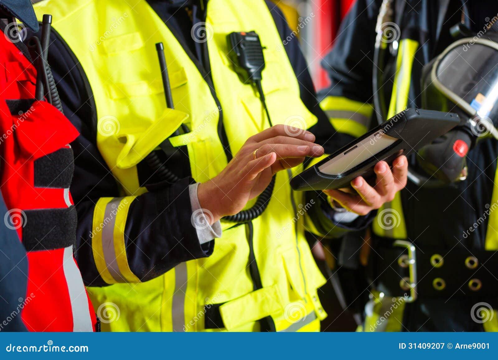 Plan de déploiement des sapeurs-pompiers sur la tablette
