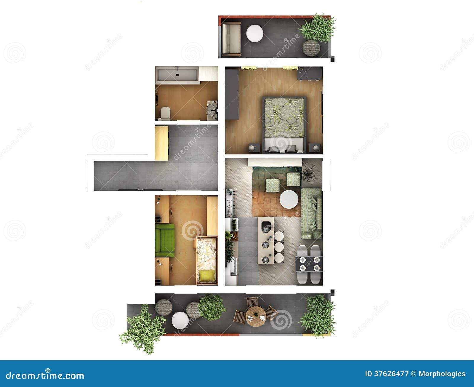 Plan de l étage 3d