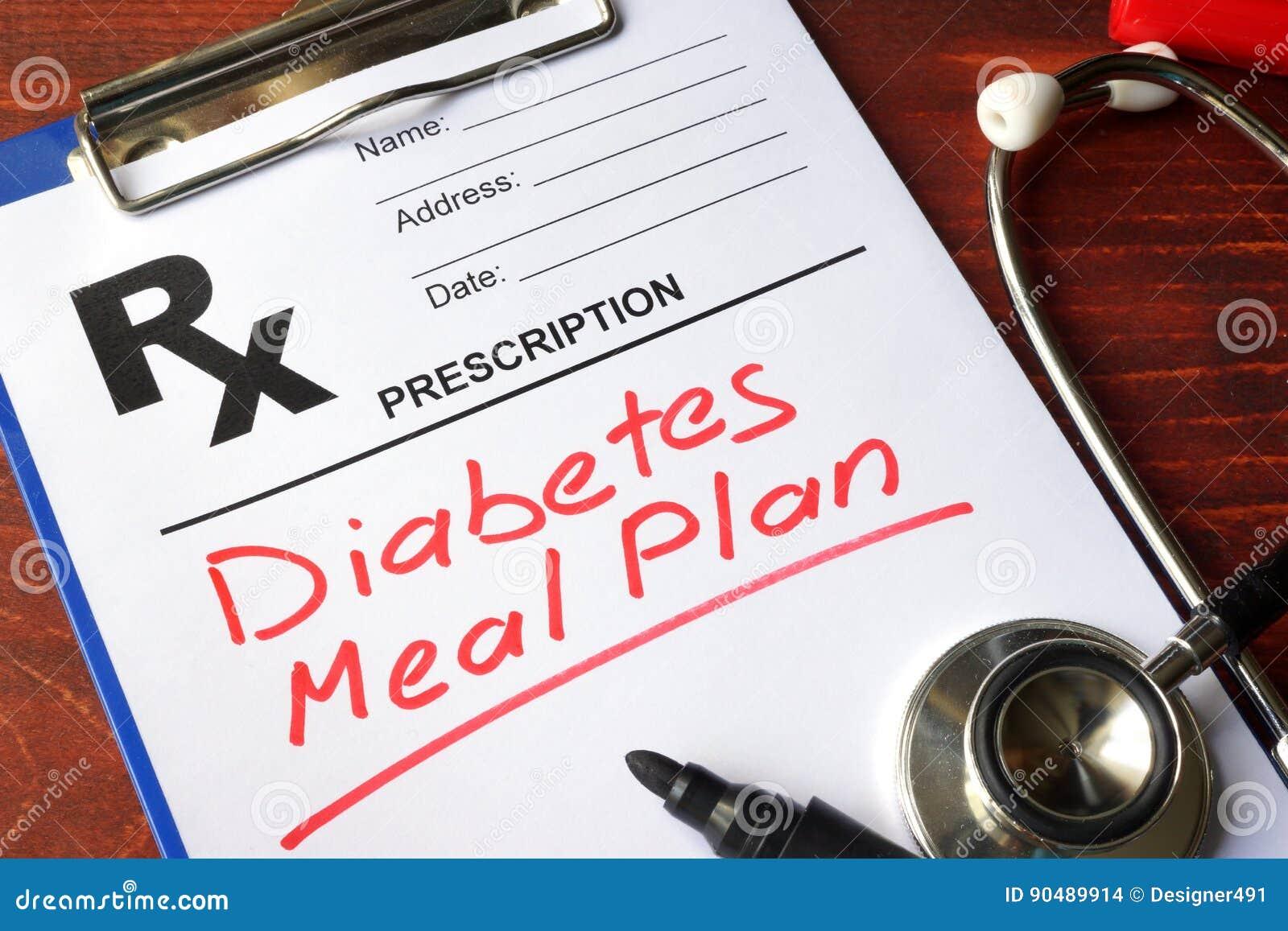 Plan de la comida de la diabetes
