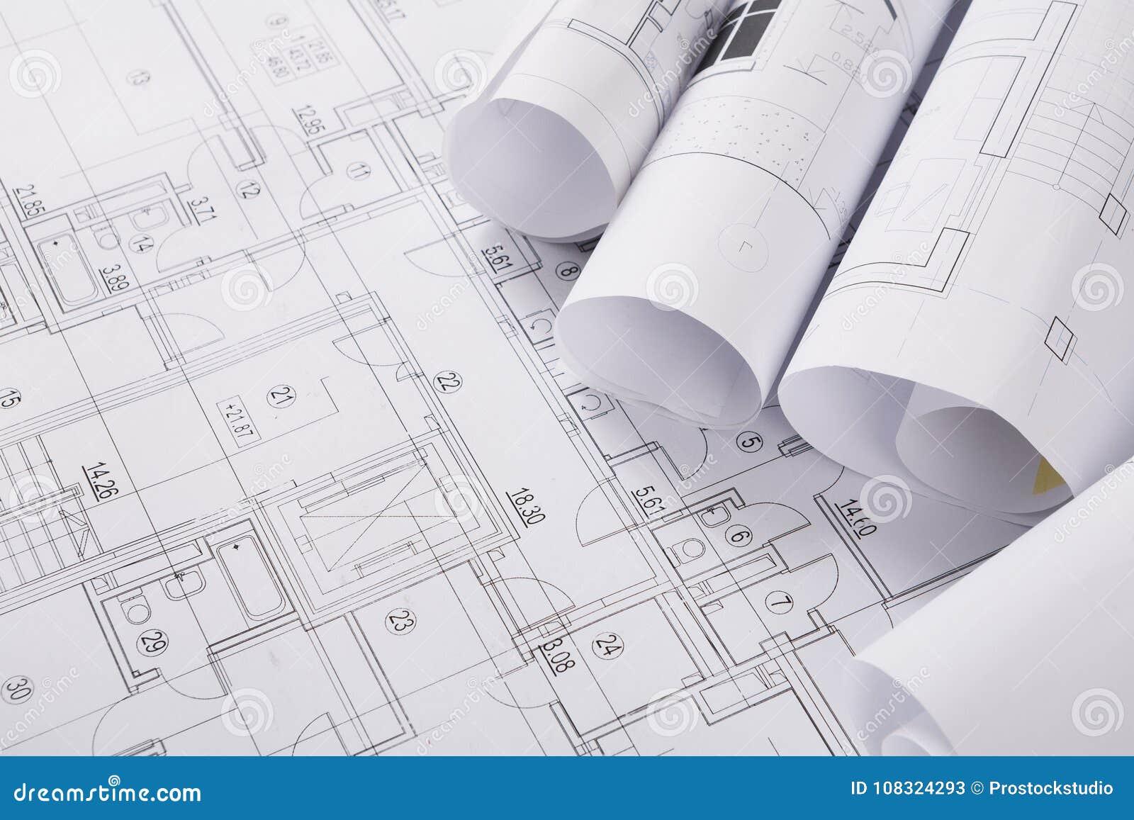 Plan de la construction avec le copyspace Fond architectural de projet