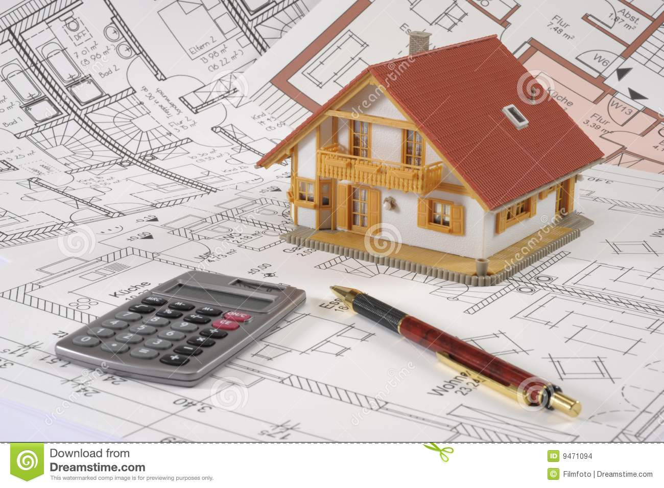 Plan de maison de construction images stock image 9471094 for Plan de construction maison