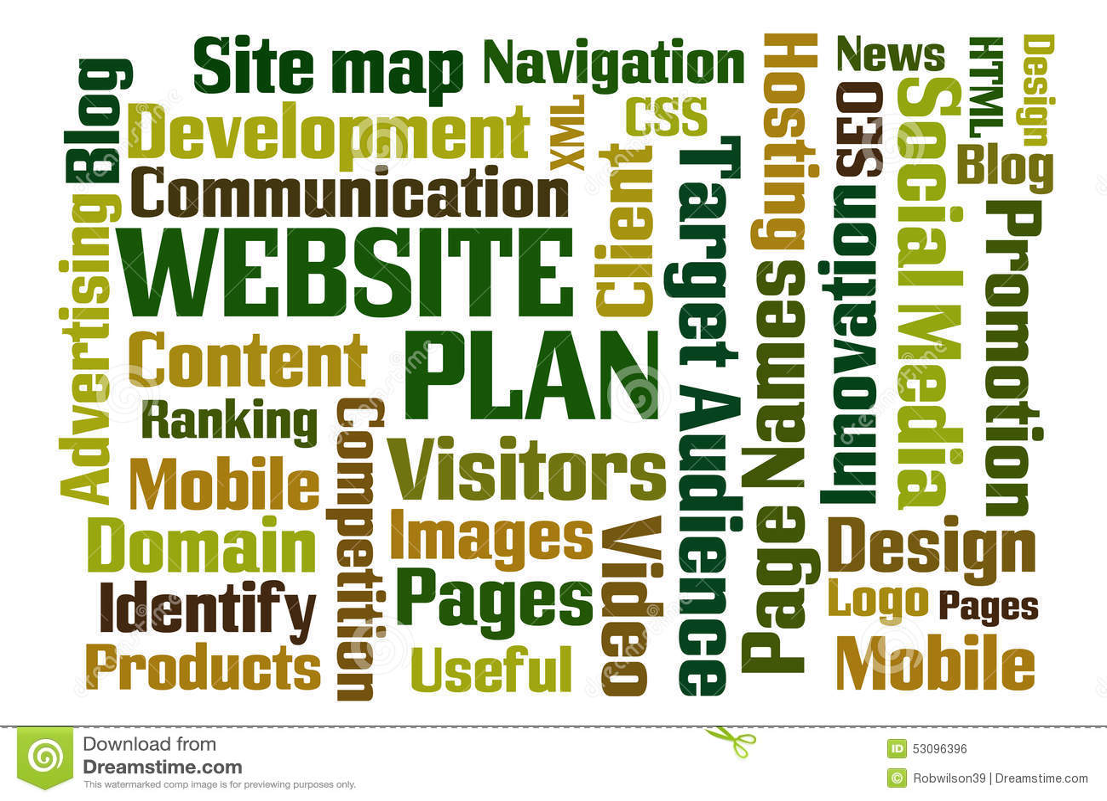 Plan de site Web