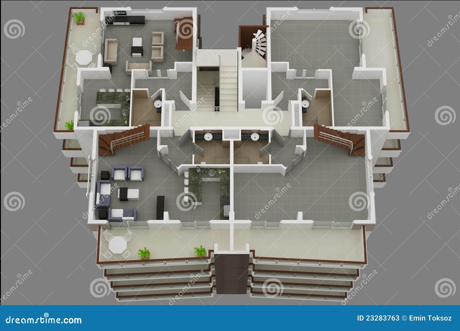 Plan de suelo 3d