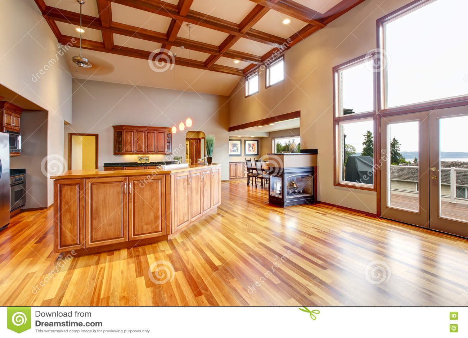 Plan de suelo abierto la sala de estar kithen y comedor for Plan de la sala de 40m2