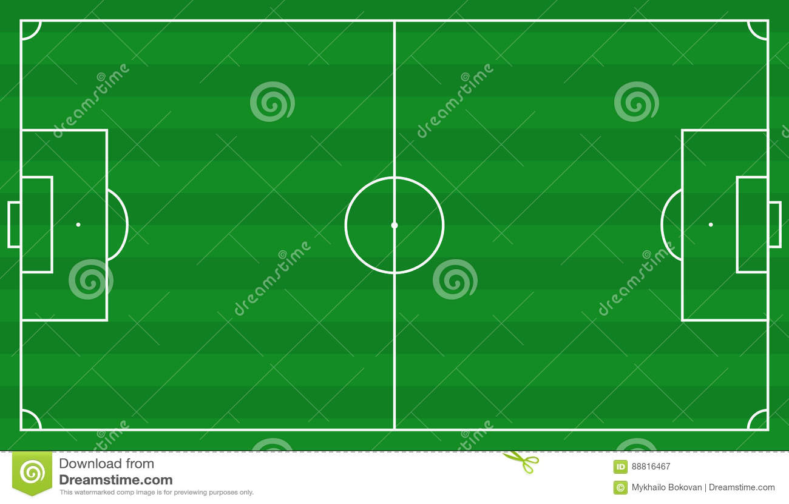 Plan de terrain de football illustration de vecteur for Plan terrain