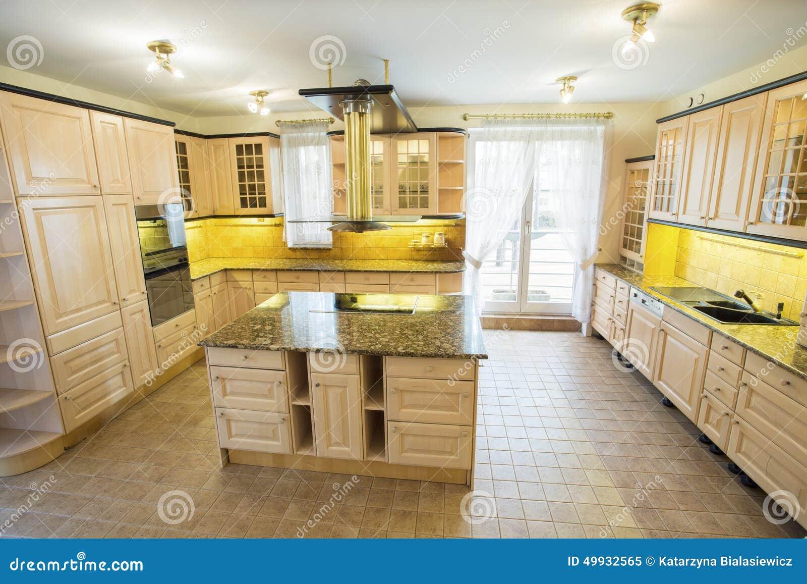 Plan De Cuisine En Marbre plan de travail de marbre à l'intérieur de la cuisine image