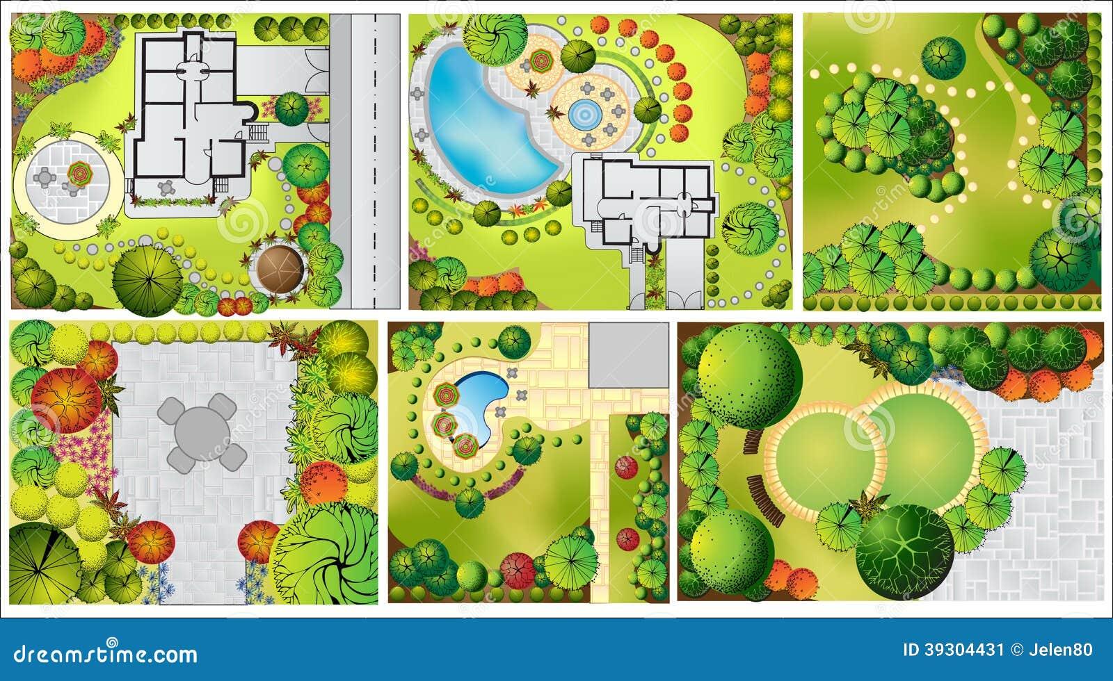 Plan del paisaje del od de las colecciones